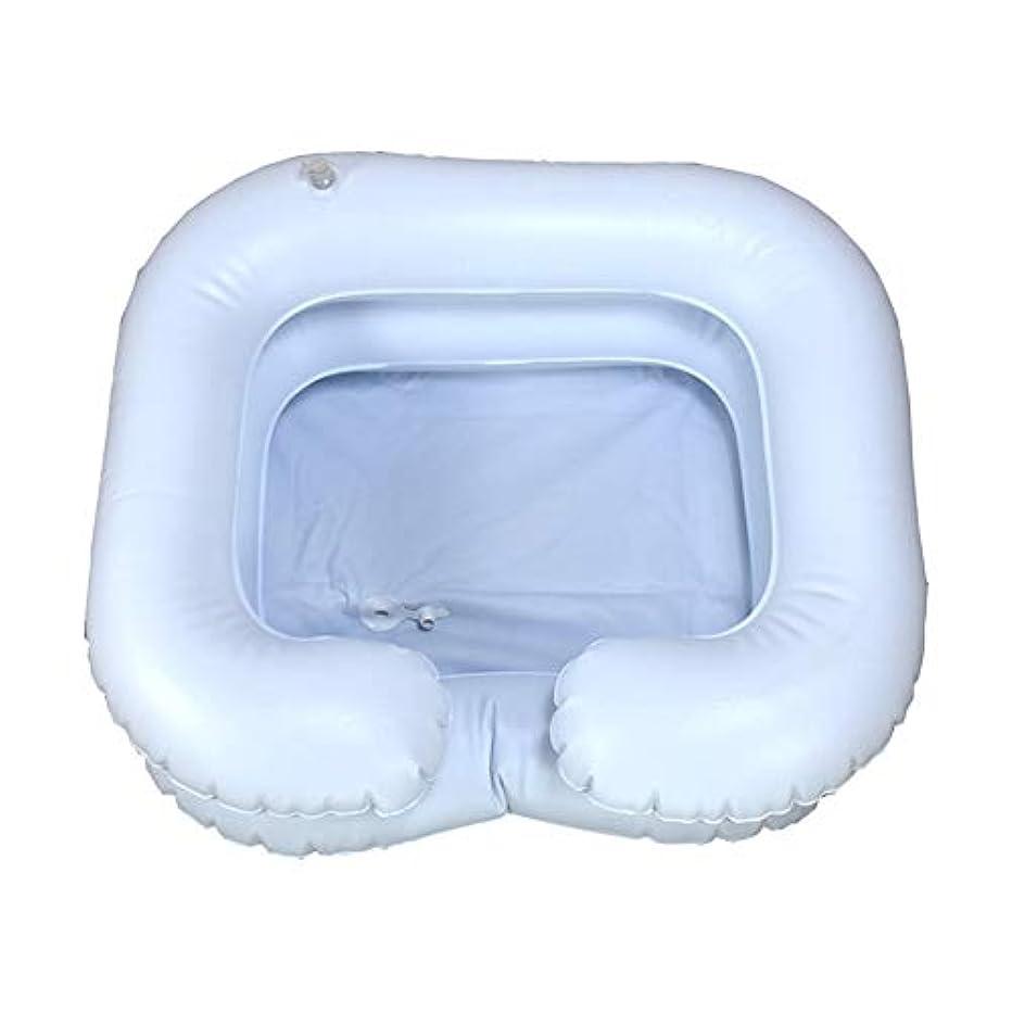 ポータルコンデンサー利益折り畳み式のインフレータブルポータブルベッドシャンプー髪障害者、高齢者、妊娠、手術後の患者、寝たきりの人のためのポンプで盆地を洗浄