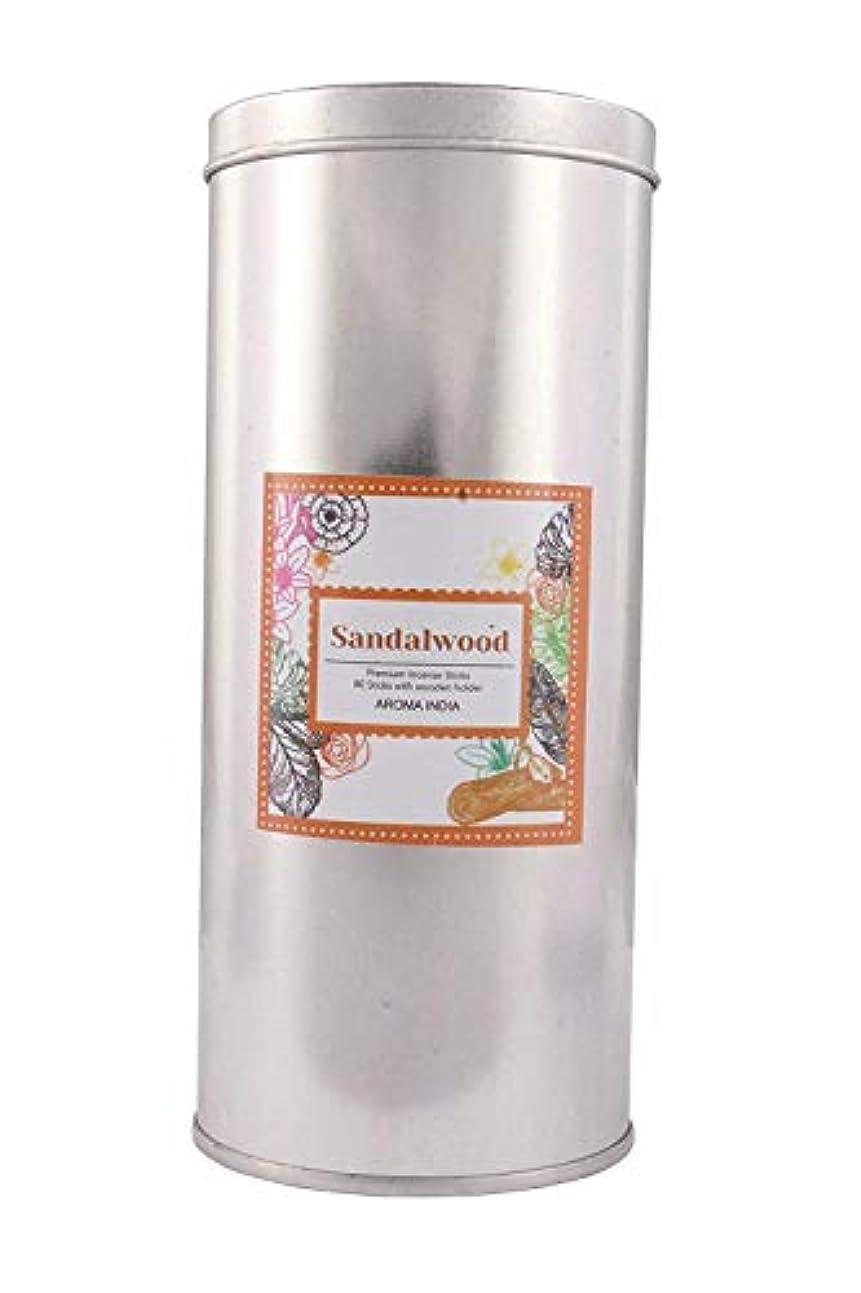 ターゲットゆりかご十分Aroma India Incense Sticks in Jumbo Round Tin (6.6 cm x 6.6 cm x 15.3 cm, Natural, J1002SW)