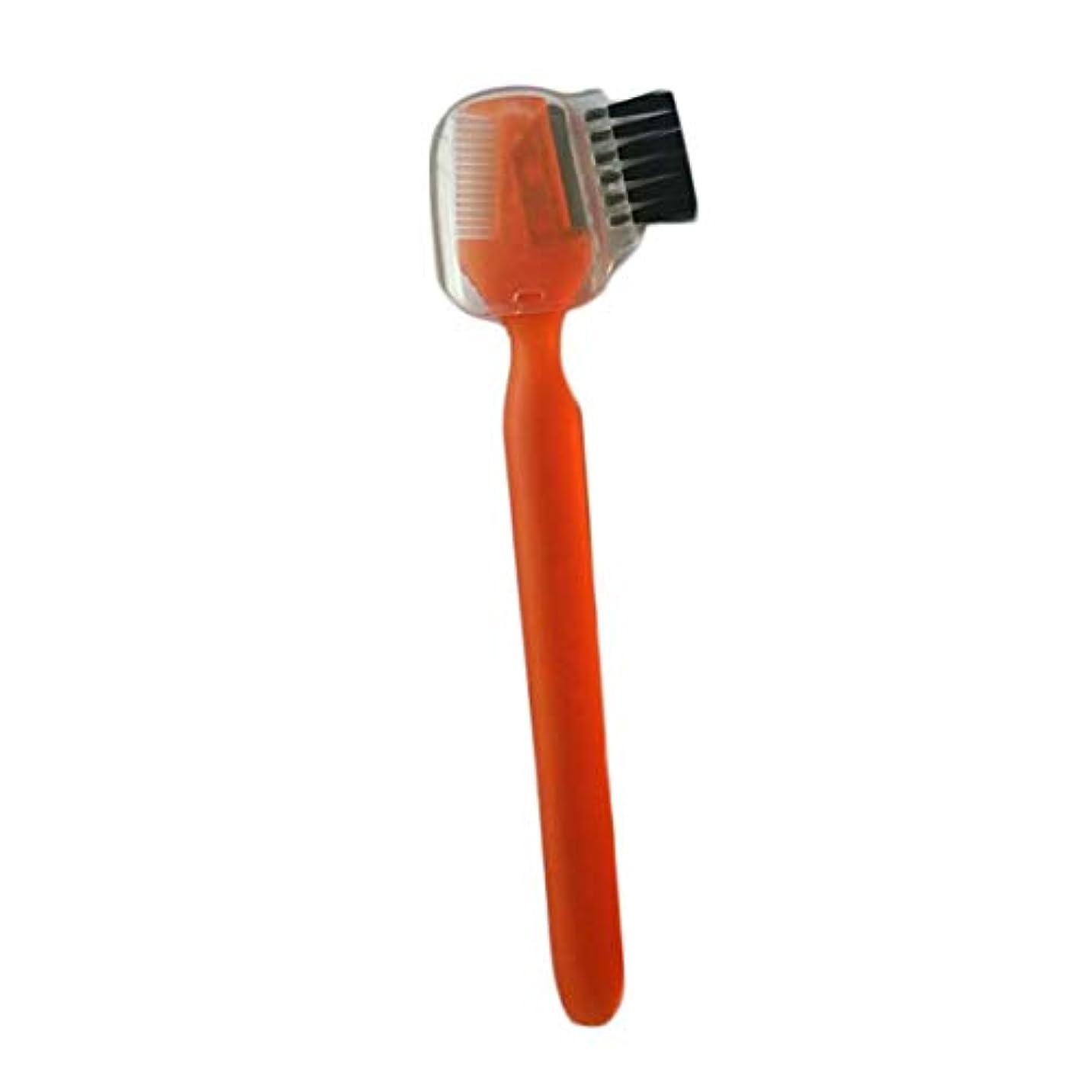 速いこねる取り戻すOU-Kunmlef 新しい流行の5つのPC女性は、眉毛櫛で眉毛剃刀トリマー形プロシェービングキットを噛みます(None orange)