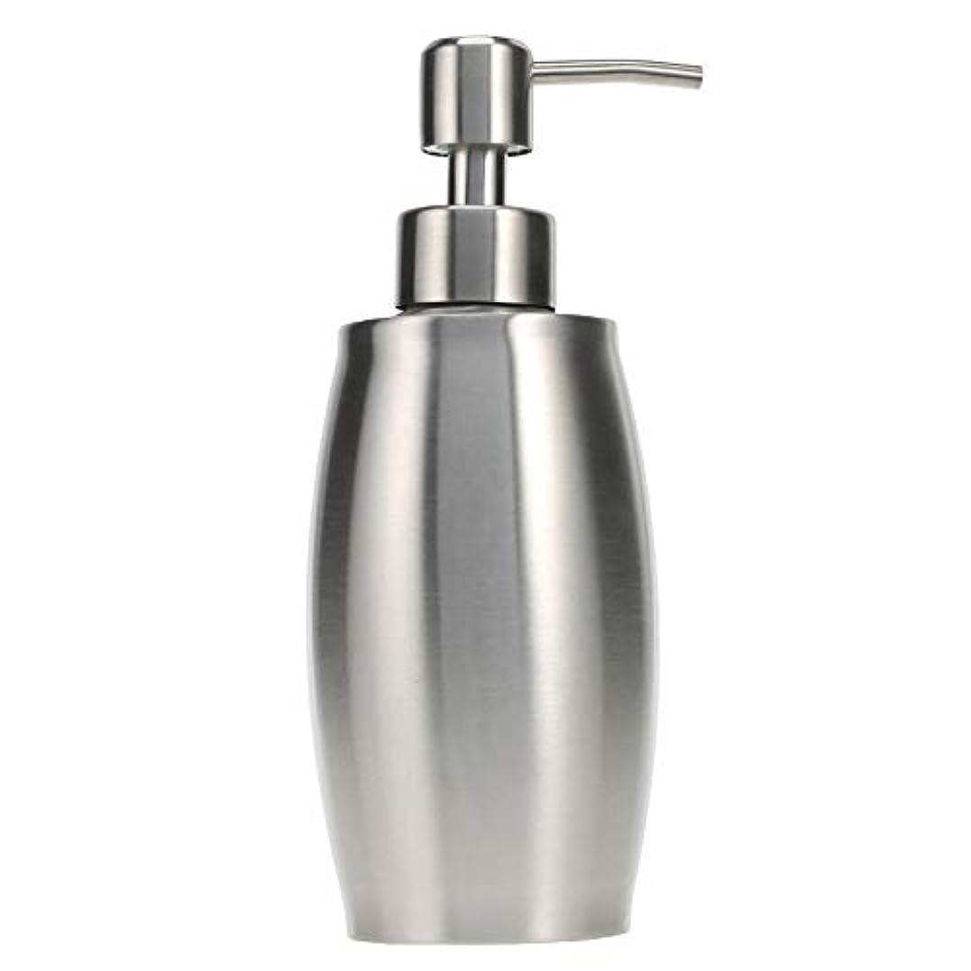 スパークめまいがビールソープ ポンプ シャンプーディスペンサー 手洗いボトル ステンレス製 350ml 防錆 シャワージェル 石鹸 シャンプー 洗剤 キッチン バスルーム トイレ 洗剤容器 (シルバー)