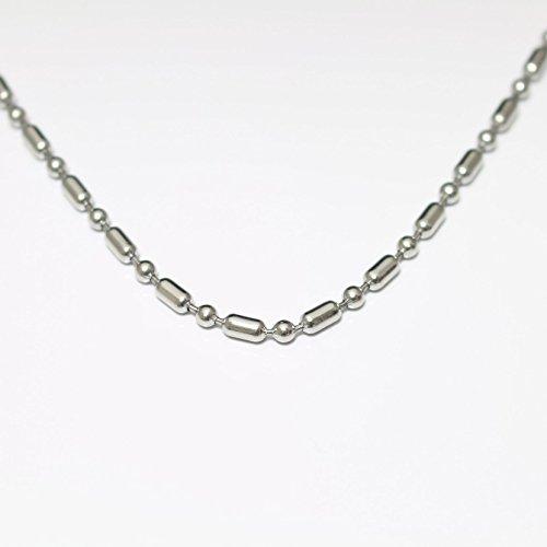[해외]Amortis 사지 카루 변형 볼 체인 목걸이 (3.0mm)/Amortis Surgical stainless steel deformed ball chain · necklace (3.0 mm)