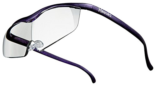 Hazuki ハズキルーペ ラージ 1.85倍 クリアレンズ 紫