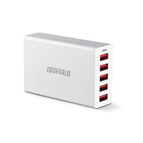 iBUFFALO 5ポートタイプ (40W)8A USB急速充電器 iPho...