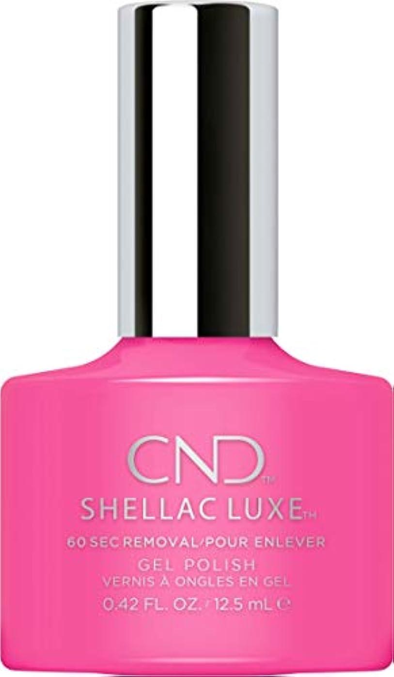 かすれた誇大妄想若いCND Shellac Luxe - Hot Pop Pink - 12.5 ml / 0.42 oz