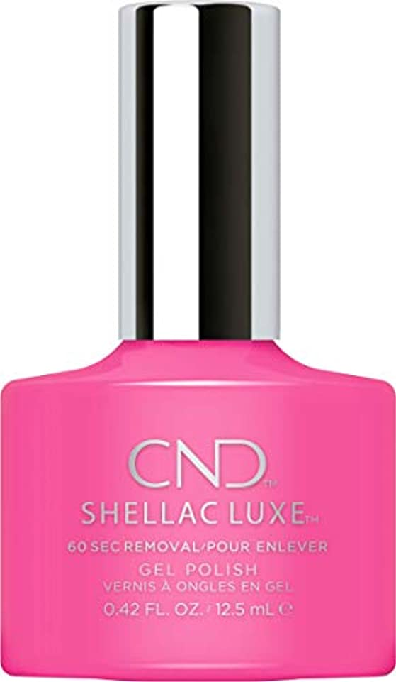 十分な出来事閉塞CND Shellac Luxe - Hot Pop Pink - 12.5 ml / 0.42 oz
