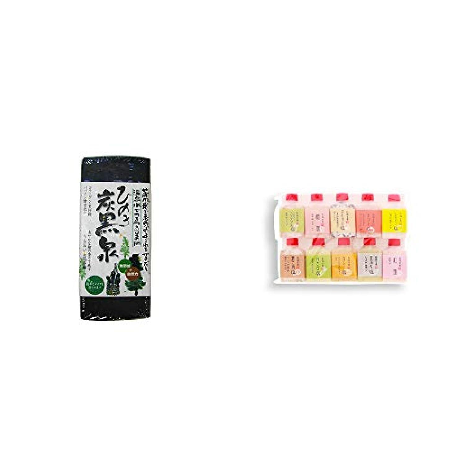 製品溶融アジア人[2点セット] ひのき炭黒泉(75g×2)?塩アラカルト(10本セット)