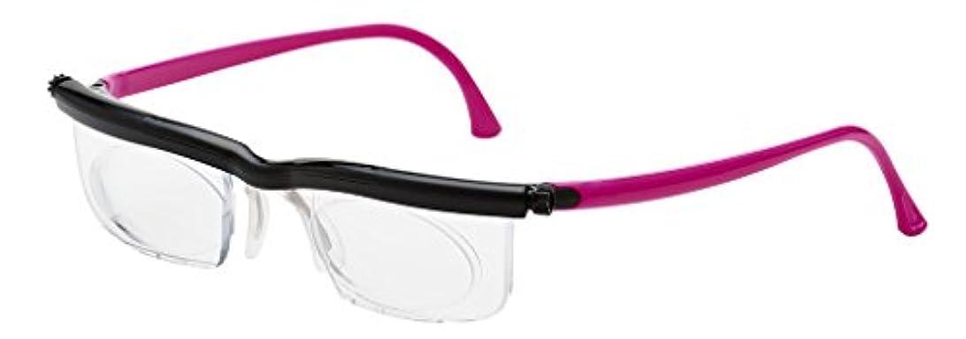 アドレンズ スペアペア ピンク 度数調節眼鏡 遠近 老眼対応 老眼鏡 メガネ 緊急災害時用に