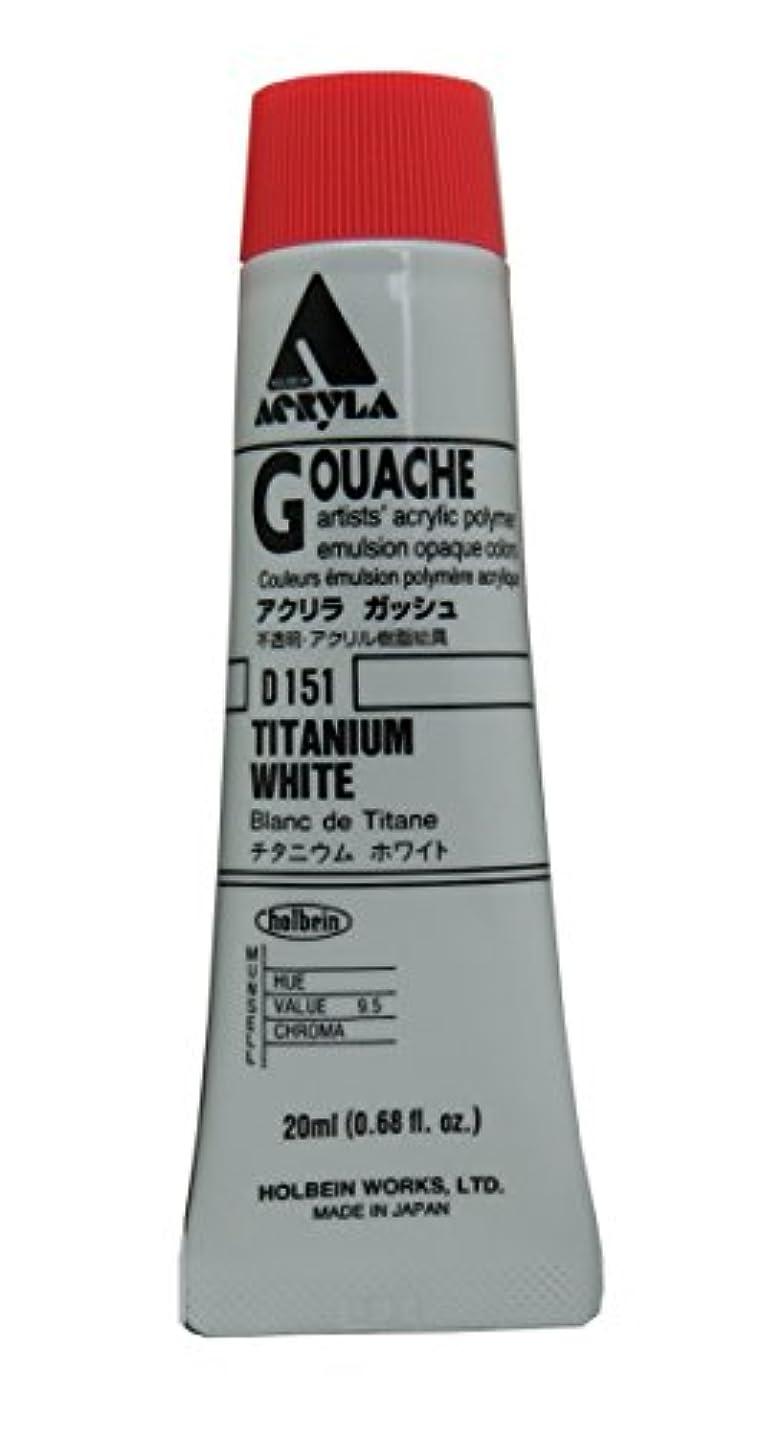 カストディアン近似悪いホルベイン アクリラガッシュ チタニウムホワイト D151 20ml(6号)