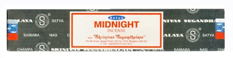 茎回答不誠実Satya Nag Champa Midnight Incense Sticksシングルパック