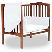 BabyDoll Solid Portable Crib Bedding, White [並行輸入品]