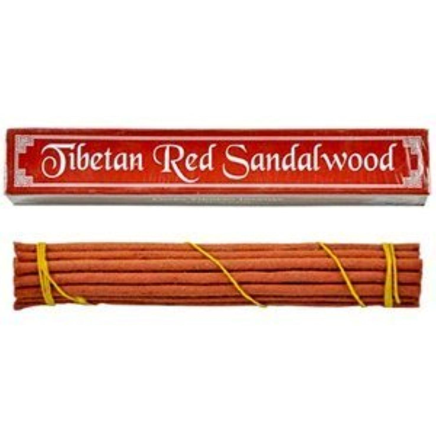 最後の甘やかす使役チベットレッドサンダルウッドお香