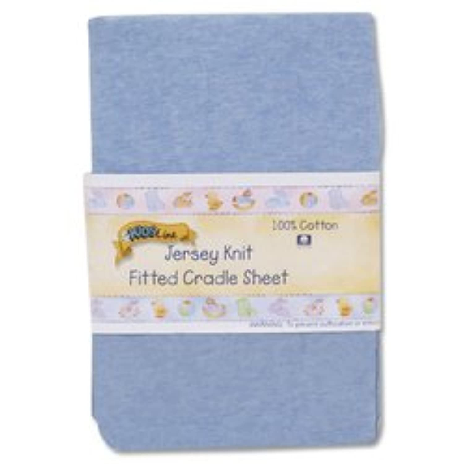 Kids Line Jersey Knit Fitted Cradle Sheet - Chambray by KidsLine