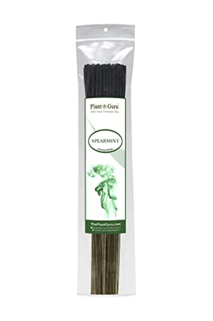 モンクあいまいな依存植物グルスピアミント線香 各束185グラム 85~100本入り プレミアム品質 滑らかで清潔 各スティックの長さは10.5インチ 燃焼時間はそれぞれ45~60分