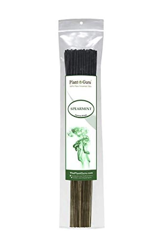 連続した首謀者廃棄する植物グルスピアミント線香 各束185グラム 85~100本入り プレミアム品質 滑らかで清潔 各スティックの長さは10.5インチ 燃焼時間はそれぞれ45~60分