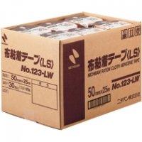 ニチバン 布粘着テープ NO.123 50mm×25m巻 123LW-50 黄土 [30巻入]
