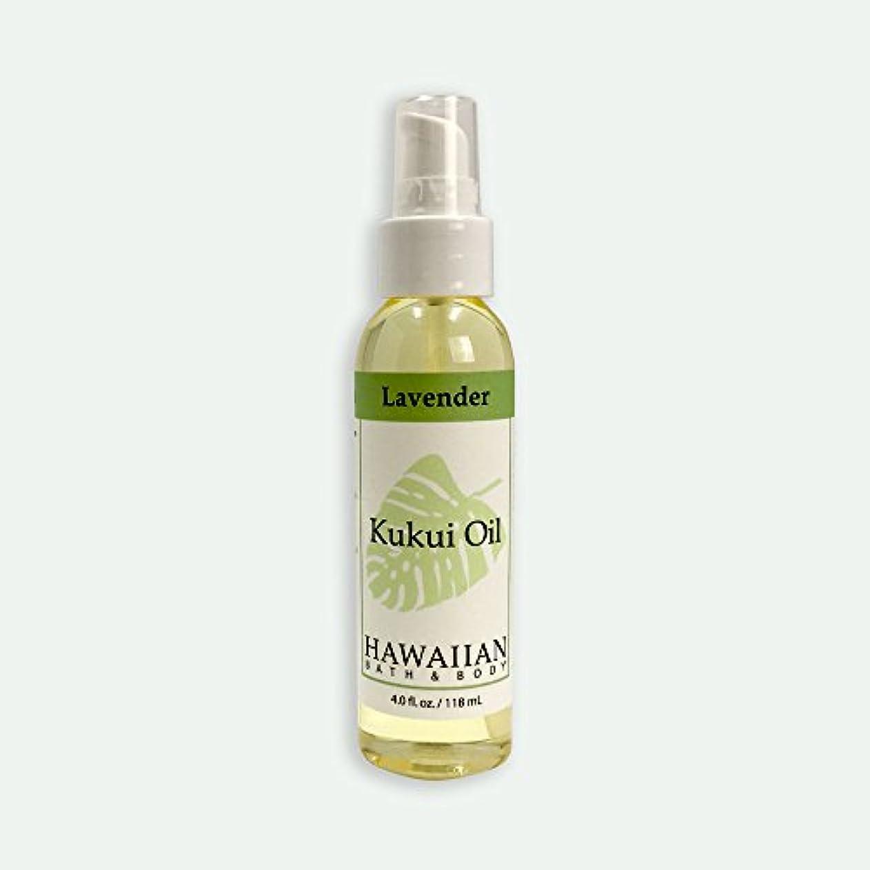 実現可能性私達強調ハワイアンバス&ボディ ククイオイル ?ラベンダー 118ml Lavender Kukui Nut Oil