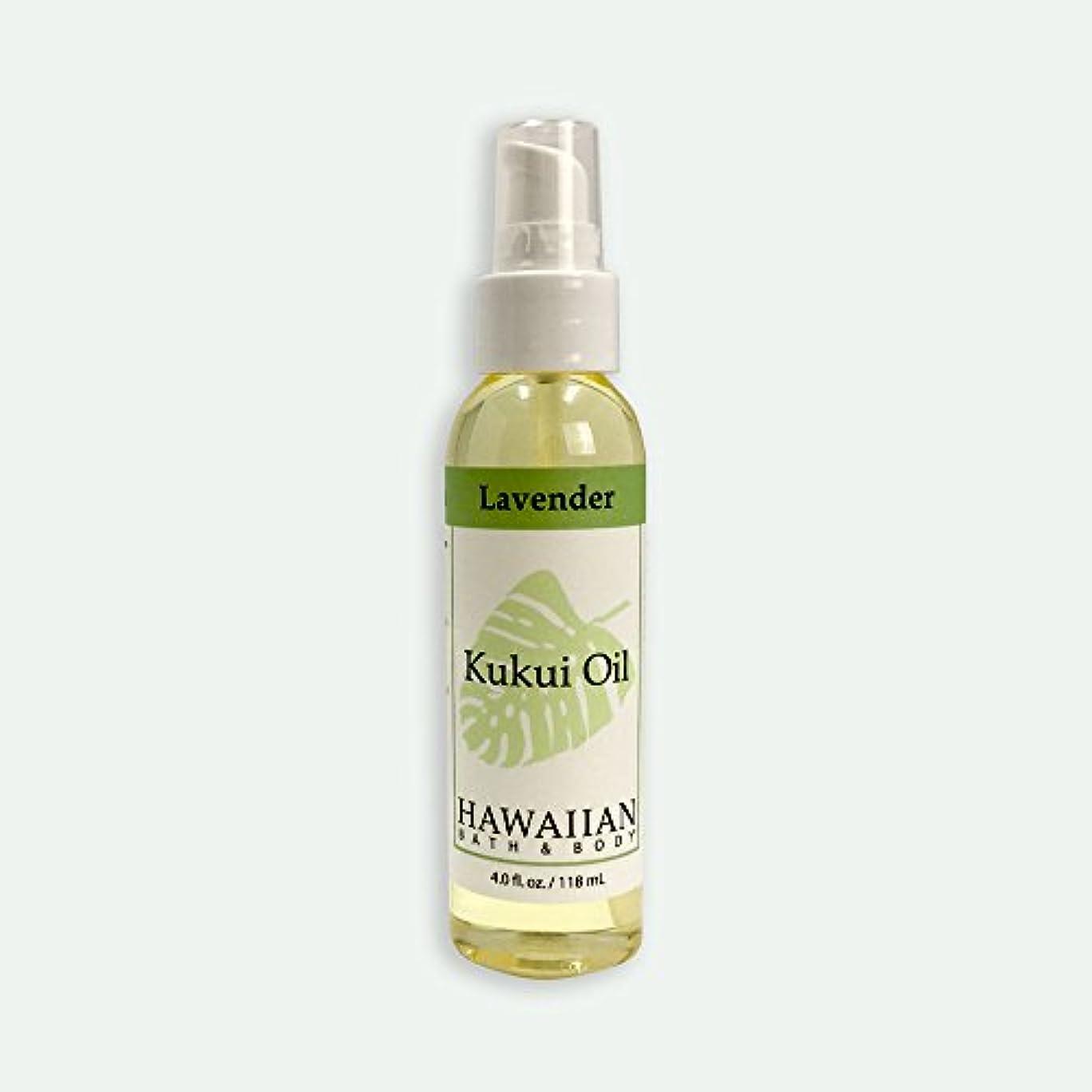 チャネル自然公園傾向ハワイアンバス&ボディ ククイオイル ?ラベンダー 118ml Lavender Kukui Nut Oil