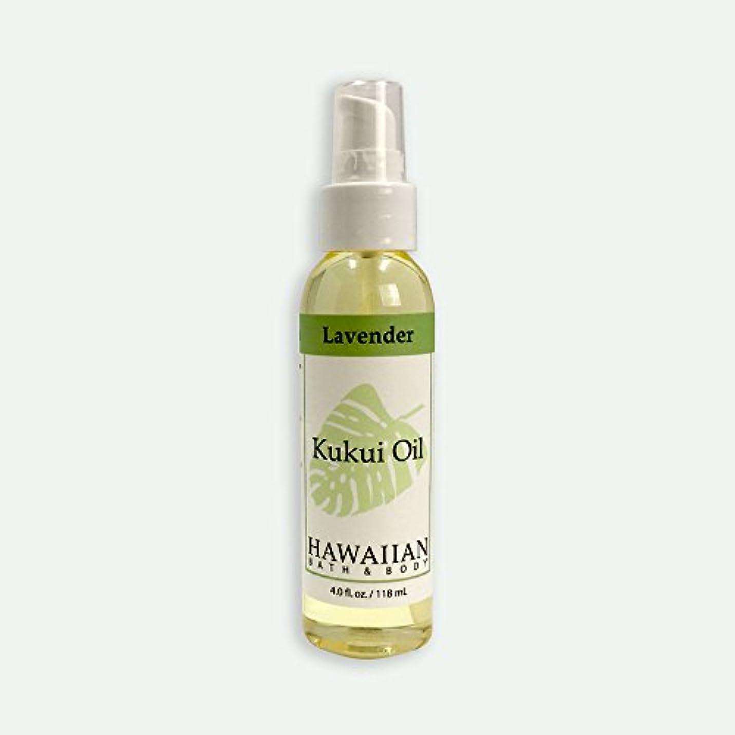表向きカイウス規制するハワイアンバス&ボディ ククイオイル ?ラベンダー 118ml Lavender Kukui Nut Oil