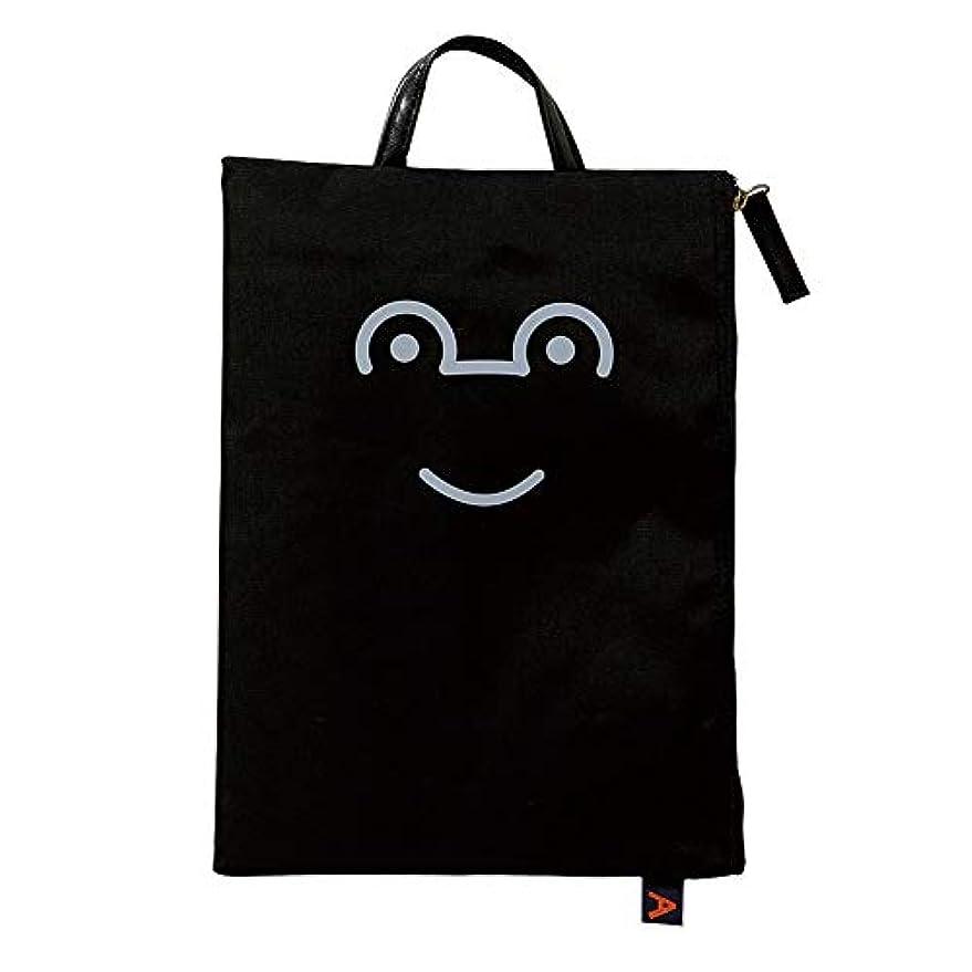 手荷物噂あらゆる種類の【 アツコ マタノ 】 フラットポーチ smile スマイル ブラック