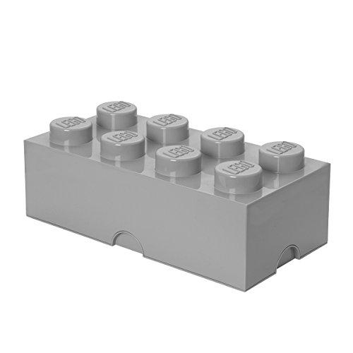 レゴ ストレージボックス ブリック 8 DIF ストーングレ...