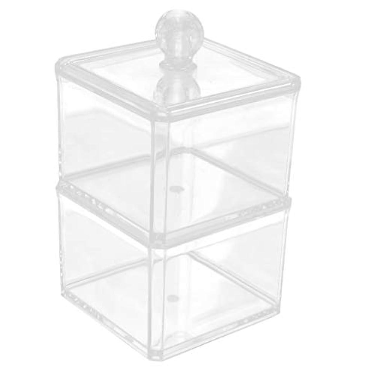 批判するさらに吸い込む収納ケース クリア 小物入り 綿棒 化粧パッド 収納ボックス オーガナイザー 2サイズ選べ - 9x13.5cm