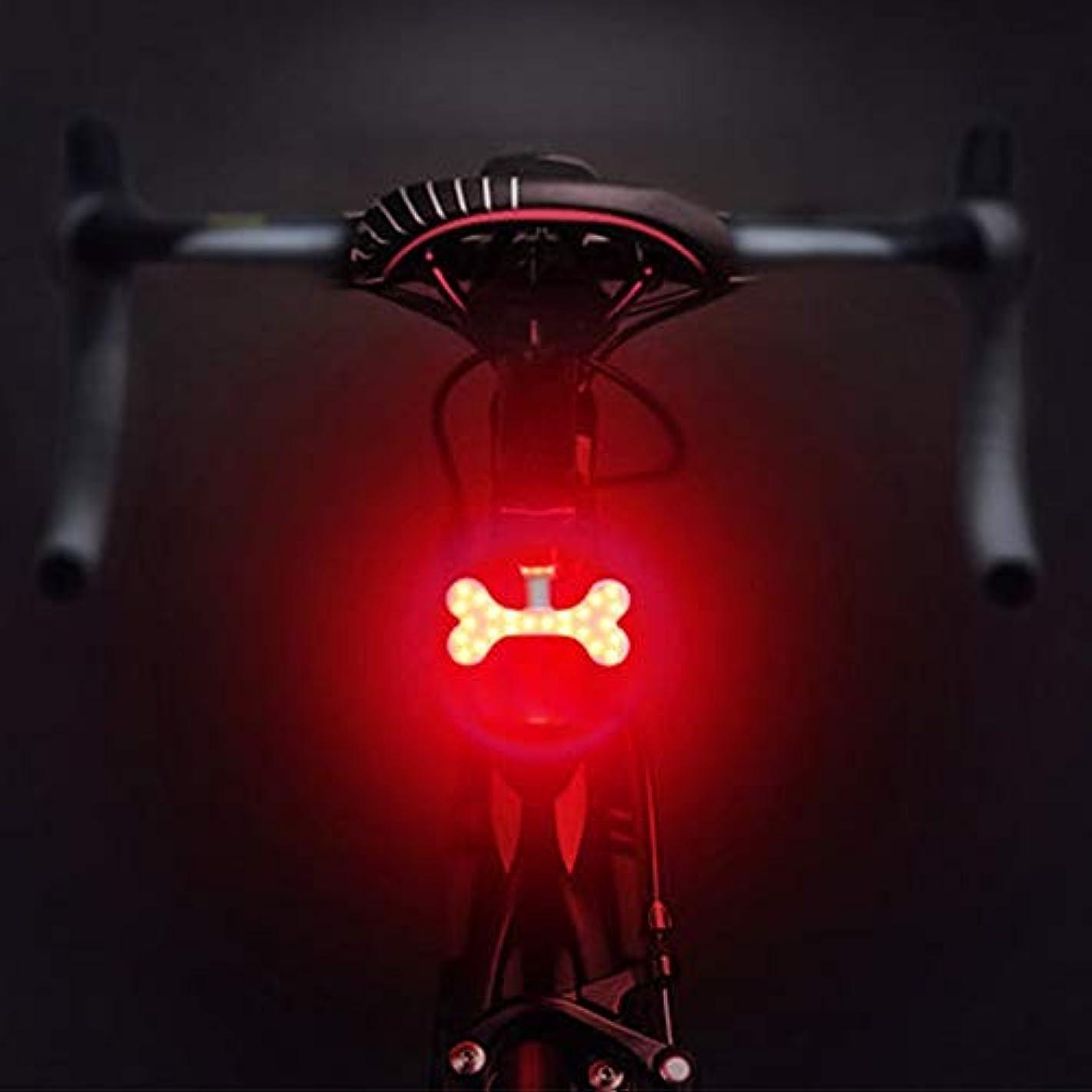 繕うメカニック調整USB充電式自転車ライト 自転車用リアライト、5つのライトモード自転車用テールライト、USB充電式自転車用ライトフック&ループストラップ付き防水自転車用ライトあらゆるバイク/ヘルメット、レッド&ブルーライトにフィット (Color : Pattern-02)
