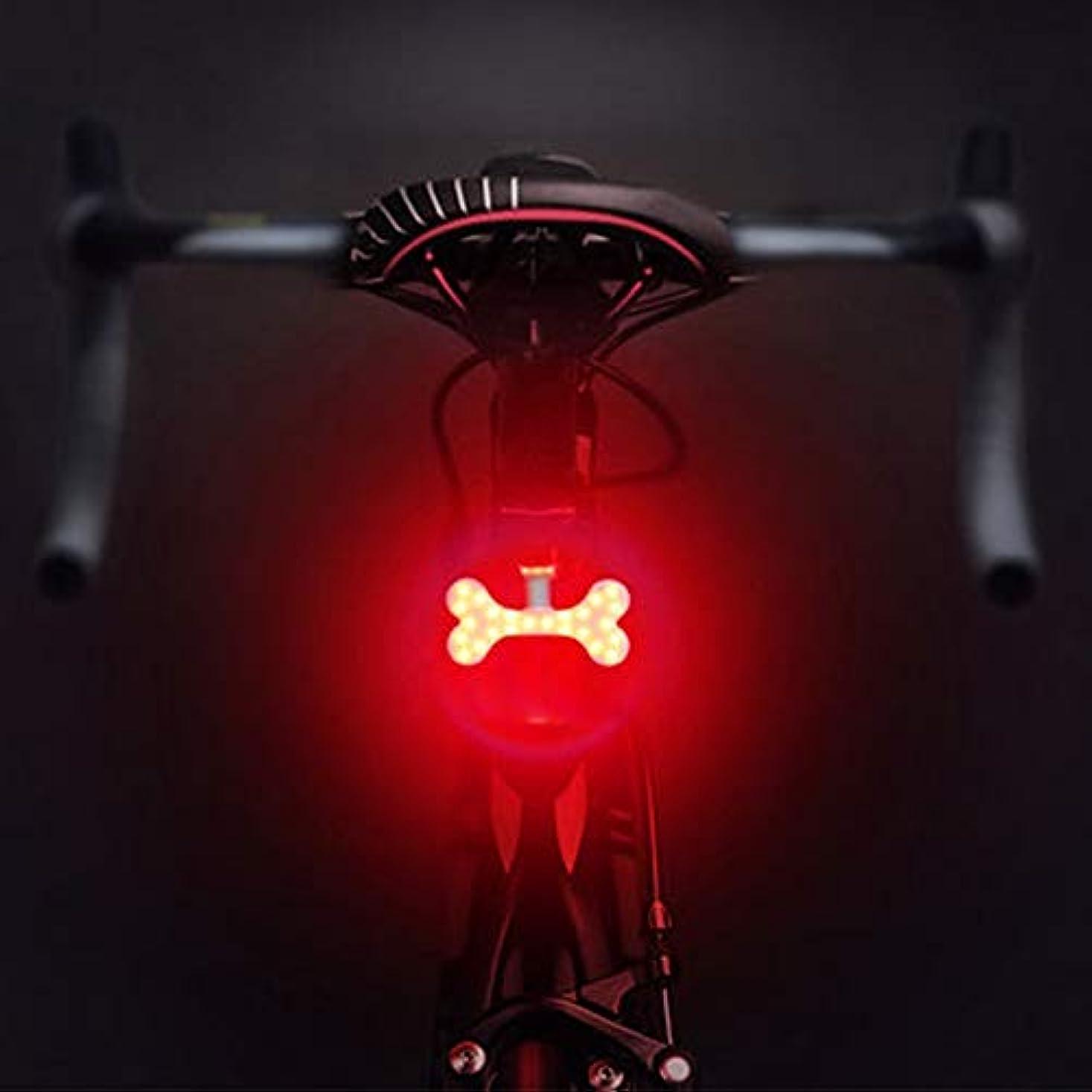 過半数合理的ありがたいUSB充電式自転車ライト 自転車用リアライト、5つのライトモード自転車用テールライト、USB充電式自転車用ライトフック&ループストラップ付き防水自転車用ライトあらゆるバイク/ヘルメット、レッド&ブルーライトにフィット (Color : Pattern-02)