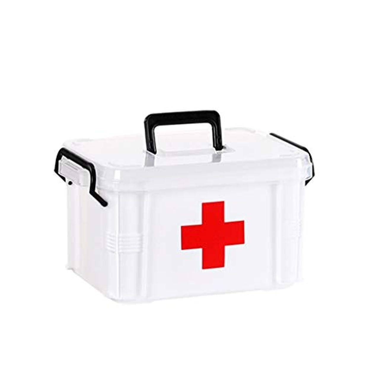 納得させる文献お手伝いさん薬箱白、プラスチック、大、小、応急処置キット、家庭用薬大容量収納ボックス HUXIUPING (Size : S)
