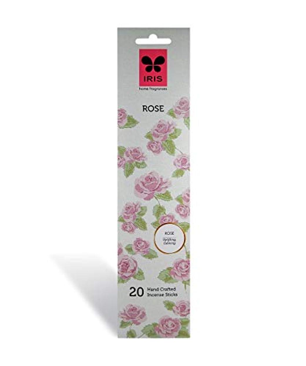 添付シアーマーカーIris Rose Signature Handcrafted Incense Sticks (Set of 20)