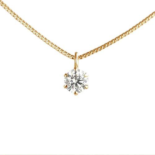 【 DIAMOND WORLD 】レディース ジュエリー K18 ダイヤモンドペンダントネックレス 0.15ct D~Gカラー SI2クラス Goodカット GGSJ ソーティング (鑑定書の元)付