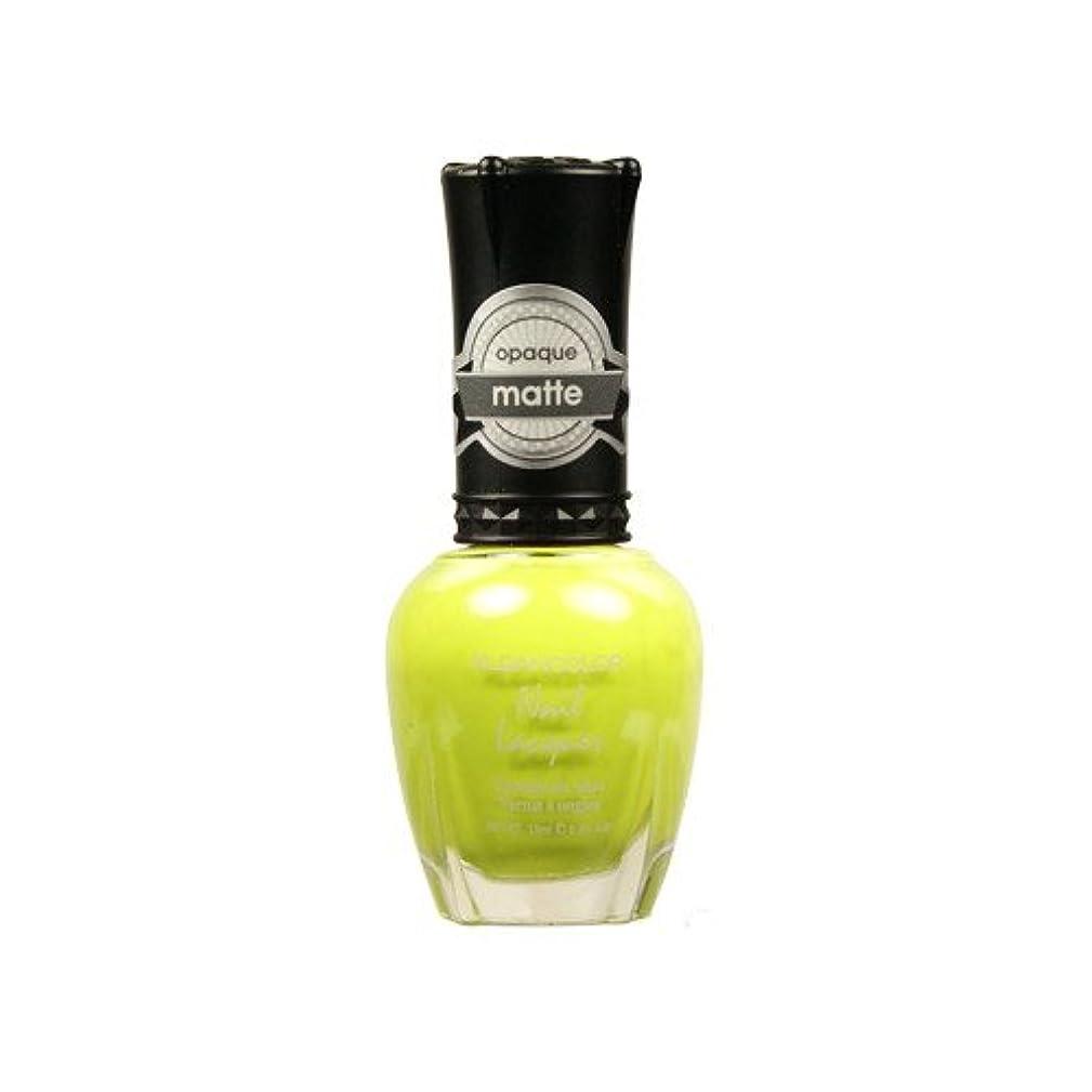誘惑保険をかける傾斜(6 Pack) KLEANCOLOR Matte Nail Lacquer - Lime Tickle (並行輸入品)