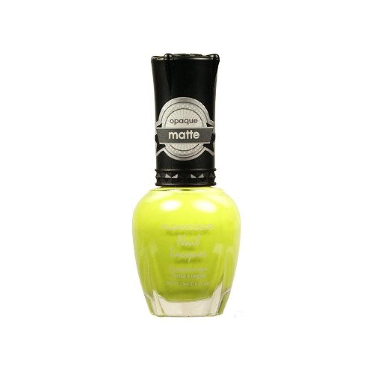 個人ほんの勤勉な(6 Pack) KLEANCOLOR Matte Nail Lacquer - Lime Tickle (並行輸入品)