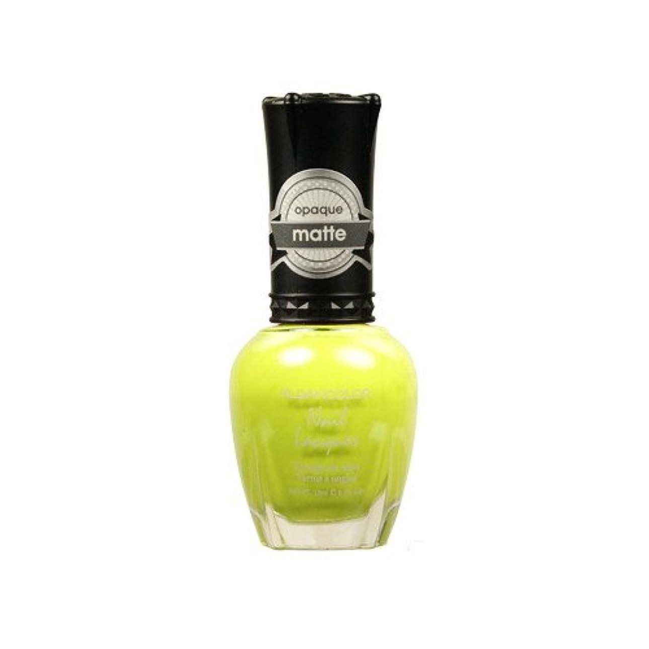 同僚クスクススタウト(3 Pack) KLEANCOLOR Matte Nail Lacquer - Lime Tickle (並行輸入品)