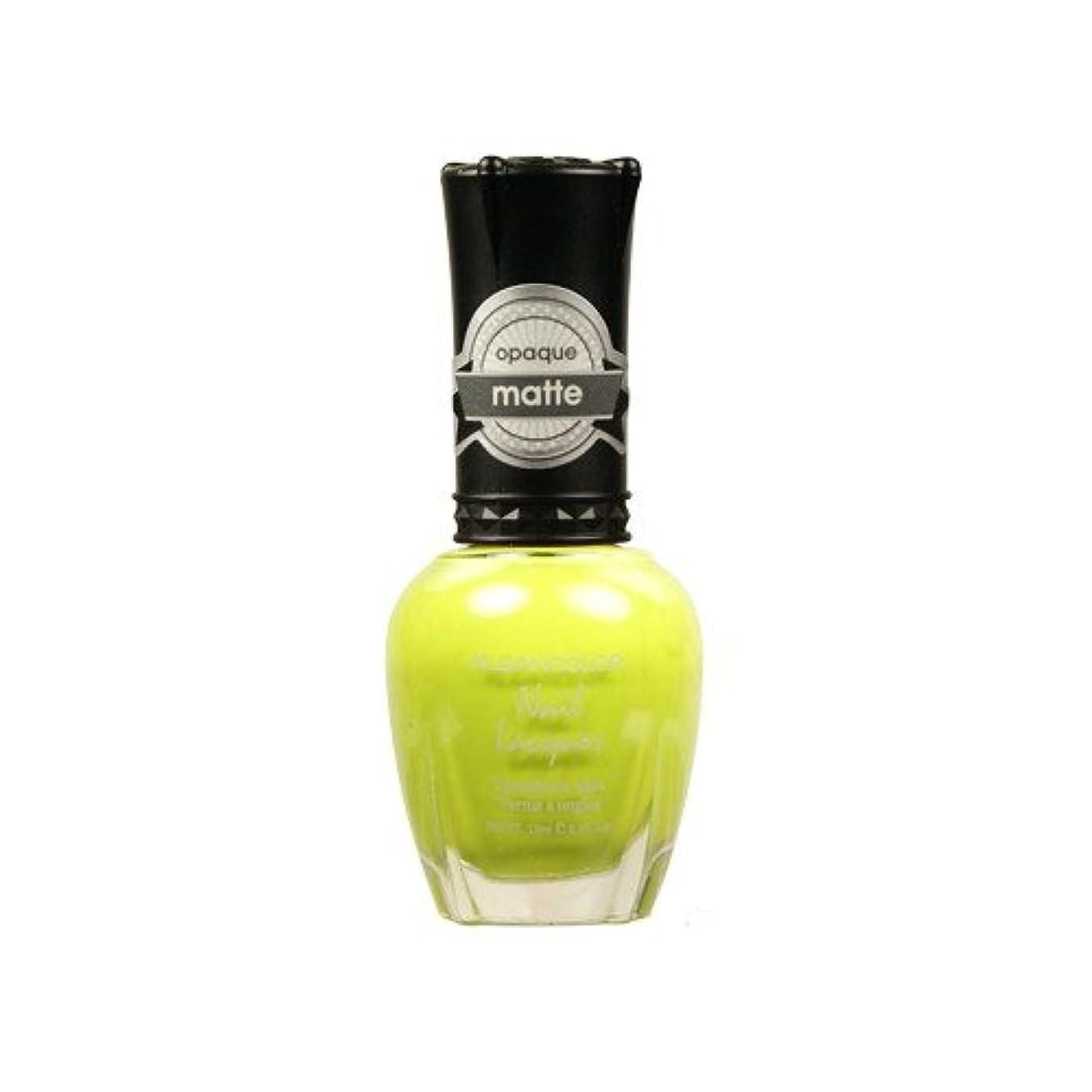 収束プレゼン空虚(6 Pack) KLEANCOLOR Matte Nail Lacquer - Lime Tickle (並行輸入品)