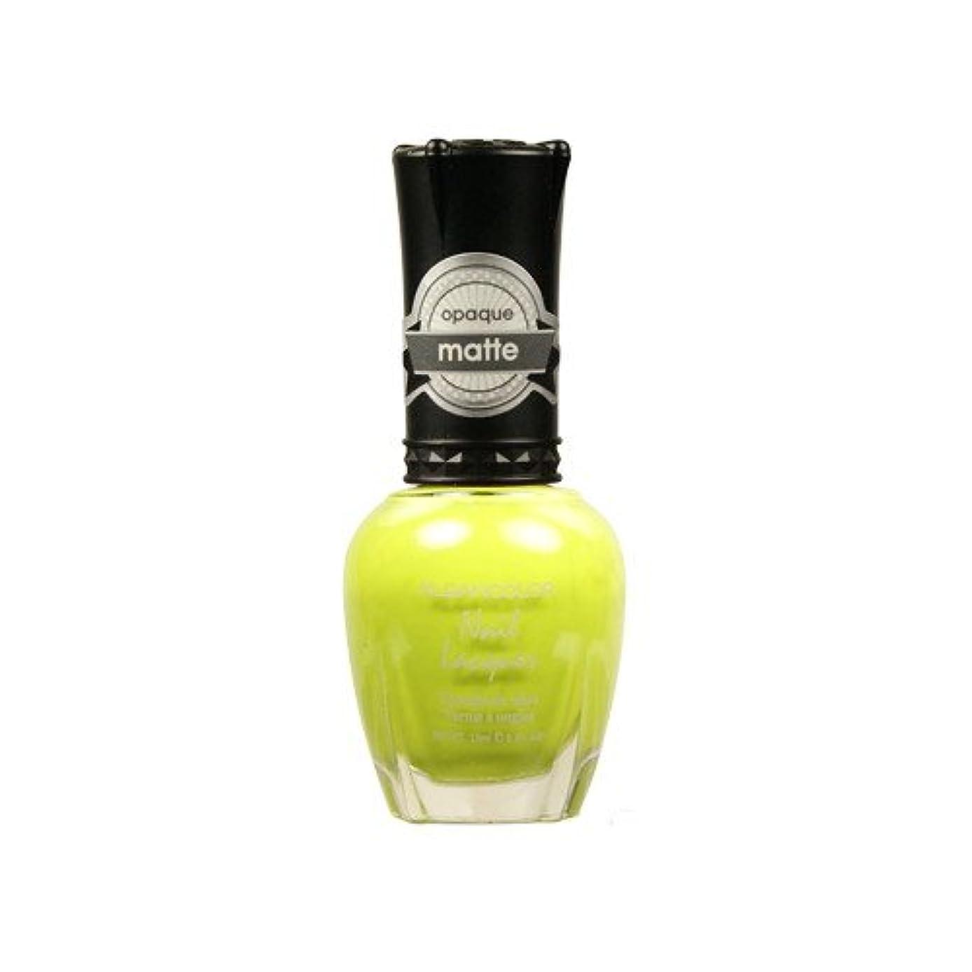 フェザー窒息させる正当化する(6 Pack) KLEANCOLOR Matte Nail Lacquer - Lime Tickle (並行輸入品)