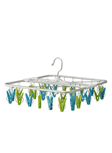 シービージャパン(CB JAPAN) 洗濯 物干し ハンガー グリーン×ブルー アルミフレーム 30ピンチ 室内干し 可動式フック Kogure B003EZ1D7M 1枚目