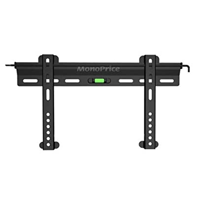 Monoprice Ultra-Slim Fixed Wall Mount Bracket for 32~55in TVs up to 99 lbs, Black