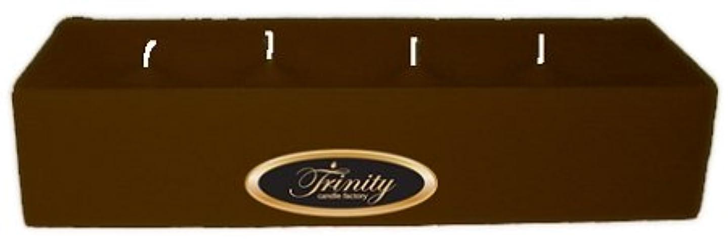 こする中性うなり声Trinity Candle工場 – カプチーノ – Pillar Candle – 12 x 4 x 2 – ログ