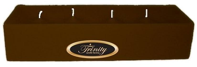ヘルシーフレキシブル残酷なTrinity Candle工場 – カプチーノ – Pillar Candle – 12 x 4 x 2 – ログ