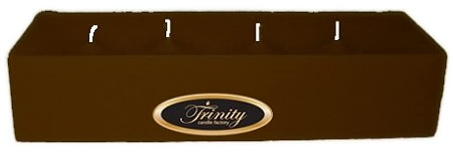 十分な運河無声でTrinity Candle工場 – カプチーノ – Pillar Candle – 12 x 4 x 2 – ログ