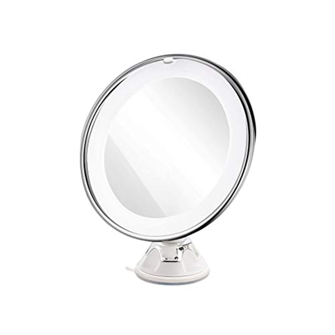 いたずらな故意に彼はFrcolor 化粧鏡 LED 7倍拡大鏡 浴室鏡 卓上ミラー 吸盤ロック付き スタンド/壁掛け両用 360度回転 スタンドミラー(ホワイト)