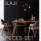 北欧モダンデザインダイニング【ILALI】イラーリ/5点セット(テーブルW140+チェア×4) ミックス