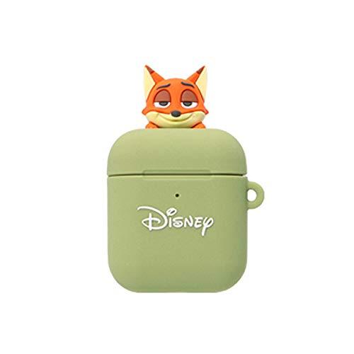 【並行輸入品】 AirPods ケース Disney フィギュア ニック 第1世代 / 第2世代対応 保護ケース シリコンカバー セパレートタイプ Apple エアーポッズ専用 カバー 海外公式ライセンス品