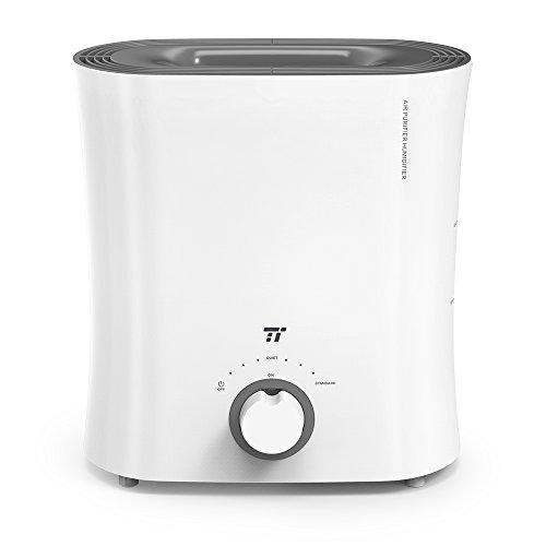 TaoTronics 加湿器 気化式 蒸気式 空気清浄機 ウィッキングフィルターで無菌&保湿 トップフィル クールミスト加湿器 ベッドルーム・オフィス・ベビールームに 2.5L TT-AH017