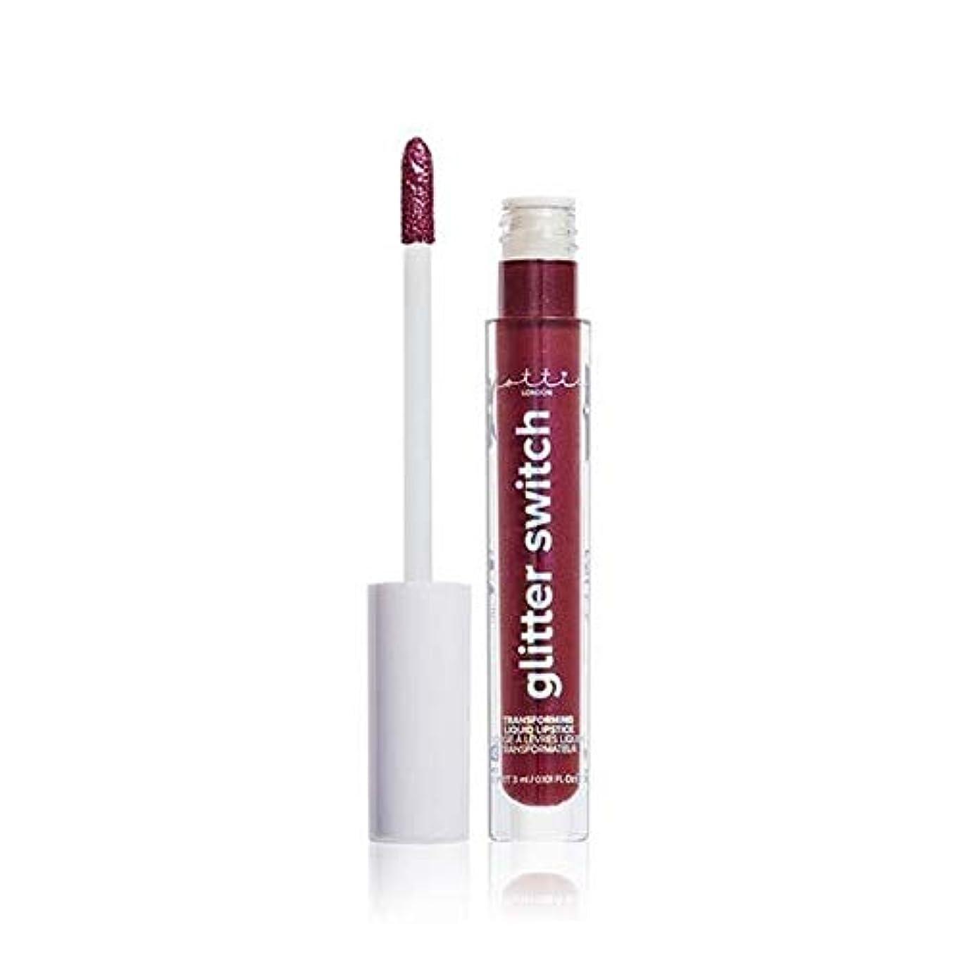 アクチュエータ沿って灌漑[Lottie London] Lottieロンドングリッタースイッチはそれをキリン口紅を変換します - Lottie London Glitter Switch Transform Lipstick Killin It...