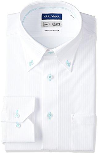 (はるやま) HARUYAMA(ハルヤマ) i-shirt 完全ノーアイロン 長袖 ボタンダウンアイシャツ M151180050 01 ホワイト L(首回り41cm×裄丈84cm)