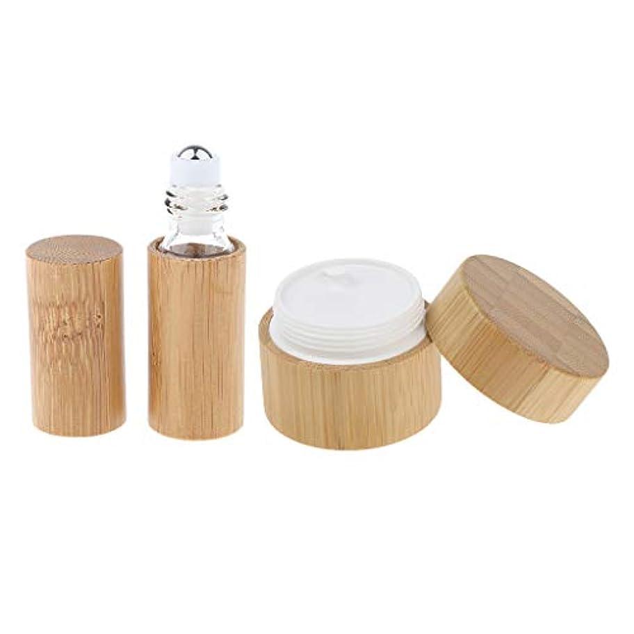 カナダる彫る2点 天然竹 リップ クリームケース ジャー 空ボトル 小分け 容器 詰め替え 旅行用