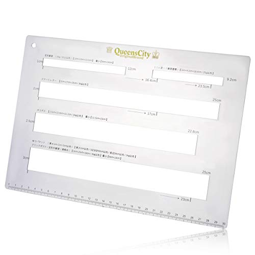QueensCity メルカリ 郵便 定規 クリックポスト ネコポス 厚さ測定定規 送料早見表セット/5つ穴4㎜厚or2㎜...