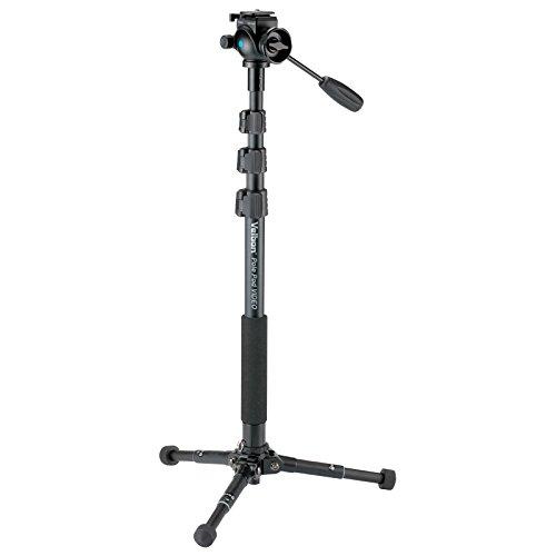 スタンド型一脚 Pole Pod VIDEO 4段/2段 レバーロック/ウルトラロック 脚径29mm/21mm 中型 フリュード雲台 クイックシュー対応 アルミ脚 372420