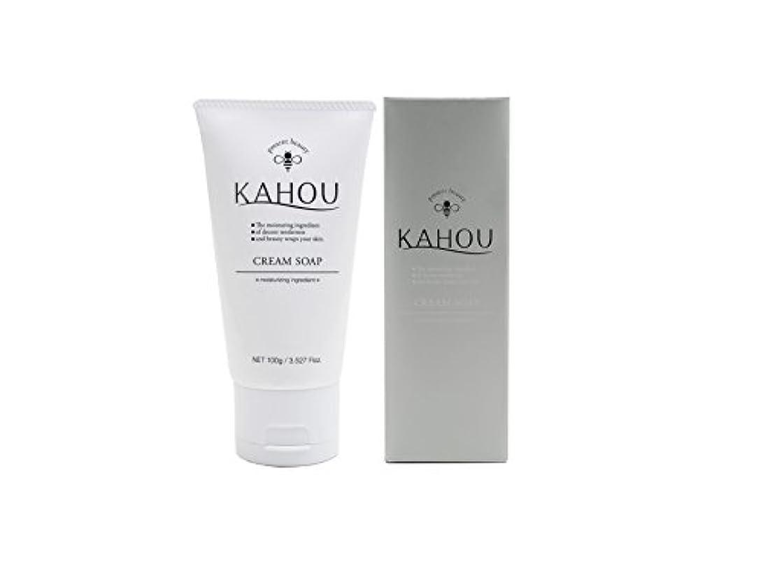 やろう必要金銭的KAHOU はちみつ配合クリームソープ 100g